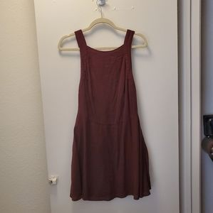 Urban Outfitters burgundy overall dress